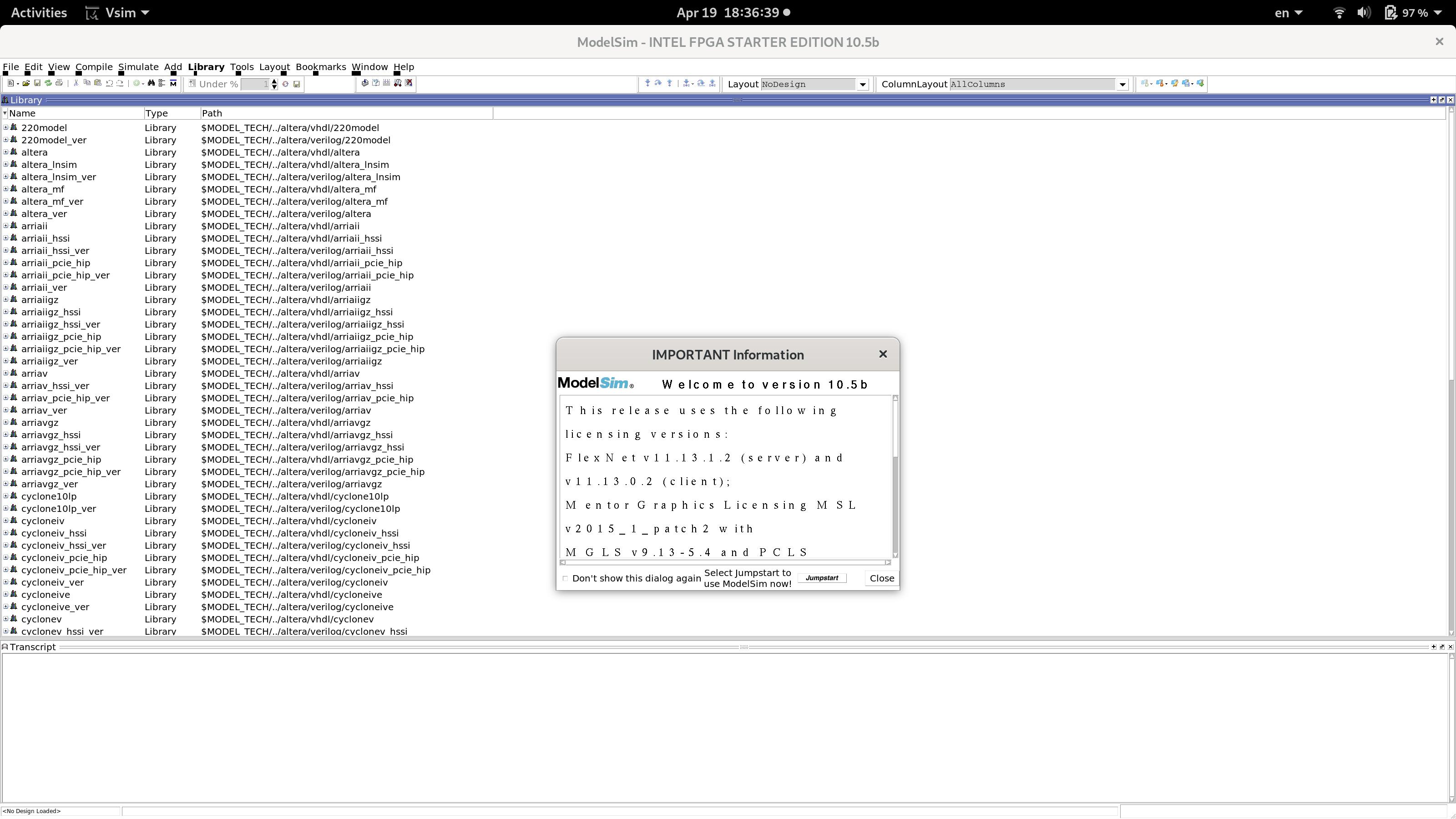 New Ubuntu, old problems with ModelSim